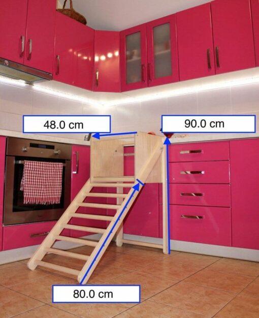 Escalier Pédagogique en bois Montessori (Taille)